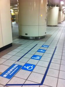 エレベーター待ち優先レーン